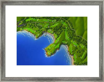 Pebble Beach Golf Course Framed Print by Robin Moline