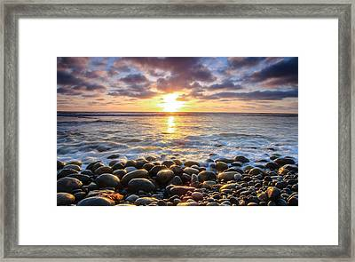 Framed Print featuring the photograph Pebble Beach by Robert  Aycock