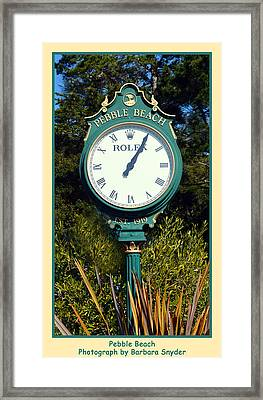 Pebble Beach Rolex Framed Print by Barbara Snyder