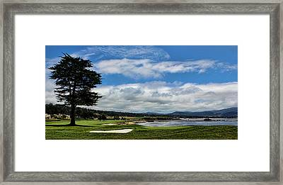 Pebble Beach - The 18th Hole Framed Print