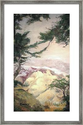 Pebble Beach Vista Framed Print