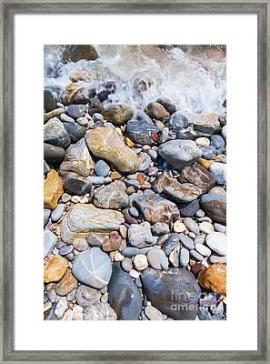 Pebble Stones Framed Print by Atiketta Sangasaeng