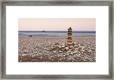 Pebble Tower Framed Print