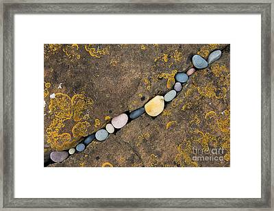 Pebbles And Rock Framed Print by Tim Gainey