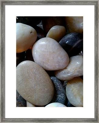 Pebbles Framed Print by Jaime Neo