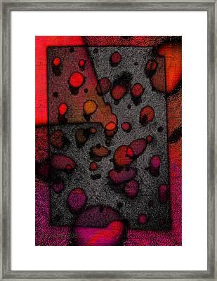 Pebbles On An Alien Beach Framed Print