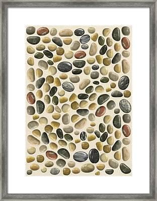 Pebbles On Sand Framed Print