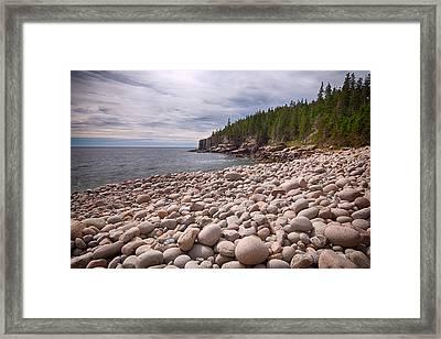 Pebbles On The Beach, Cobblestone Framed Print