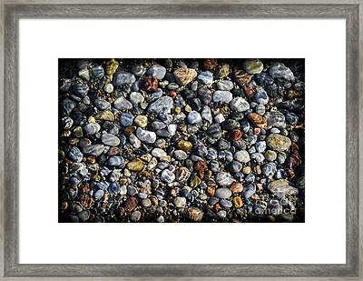 Pebbles Under Water Framed Print