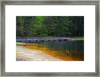 Peck Pond Framed Print by Lourry Legarde