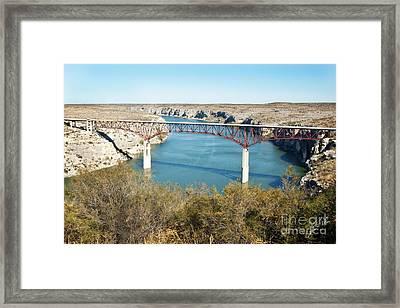 Framed Print featuring the photograph Pecos Bridge by Erika Weber