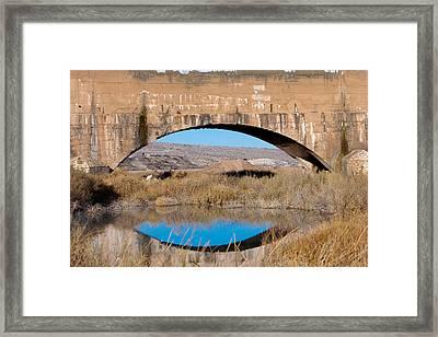 Pecos River Flume Framed Print