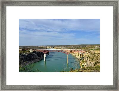 Pecos River High Bridge Framed Print