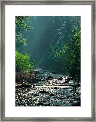 Pecos River Spring Framed Print