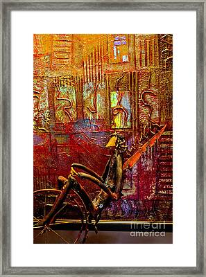 Pedaling On Rodeo Drive Framed Print by Al Bourassa
