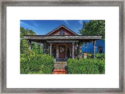 Peddlers Cottage - Bird In Hand Pennsylvania Framed Print by Frank J Benz