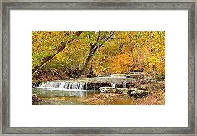 Framed Print featuring the photograph Pedelo Falls by Deena Stoddard