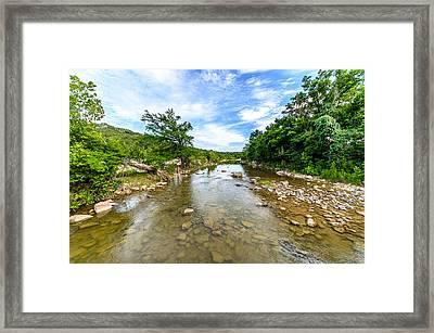 Pedernales River Framed Print by David Morefield