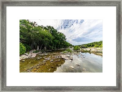 Pedernales River - Downstream Framed Print by David Morefield