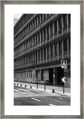 Pedestrian Crossing Framed Print by Arkady Kunysz
