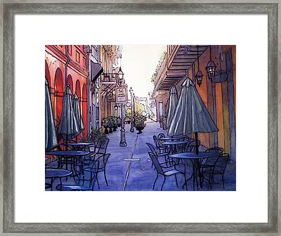 Pedestrian Mall  212 Framed Print by John Boles