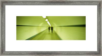 Pedestrian Tunnel, Blurred Motion Framed Print by Panoramic Images