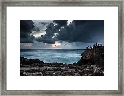 Pedra Que Bole Framed Print by Edgar Laureano