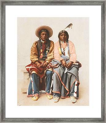 Pee Viggi And Squaw 1899 Framed Print