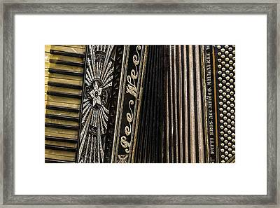 Pee Wee Accordion Framed Print