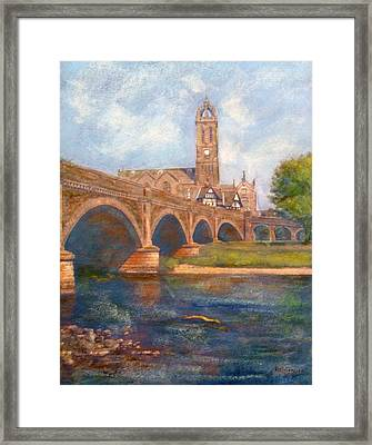 Peebles  Bridge Inn And Parish Church Framed Print