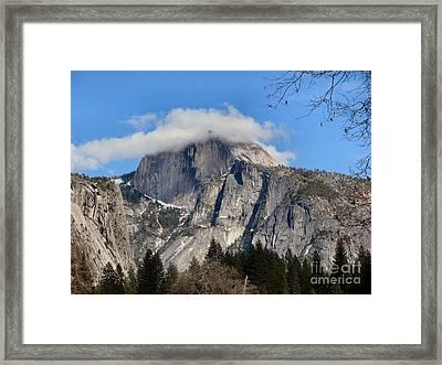 Peek-a-boo Half Dome Framed Print
