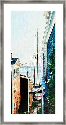 Peek At The Bluenose Framed Print by Hanne Lore Koehler