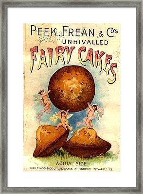 Peek, Frean And Co 1890s Uk Fairy Cakes Framed Print by The Advertising Archives
