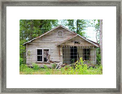 Peeking In At The Past Framed Print by Kathy  White