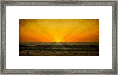 Peeking Over The Horizon Framed Print