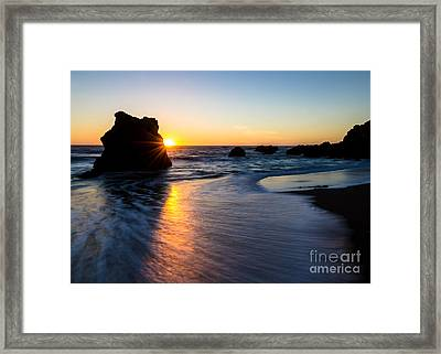 Framed Print featuring the photograph Peeking Sun by CML Brown