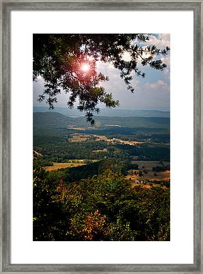 Peeking Sun Framed Print