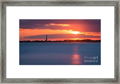 Peeking Through The Clouds Framed Print by Michael Ver Sprill