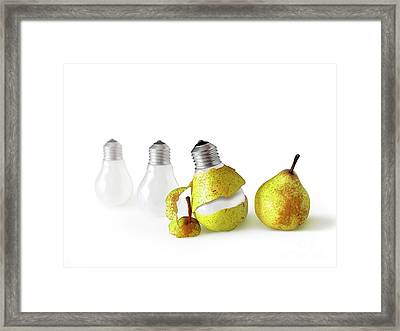 Peeled Bulb Framed Print by Carlos Caetano