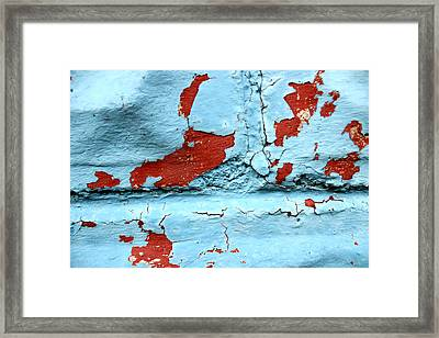 Peeling Paint Framed Print