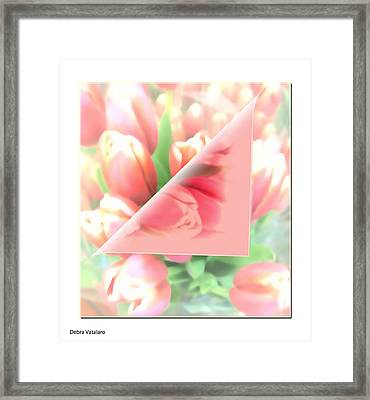 Peels Of Spring Framed Print by Debra     Vatalaro