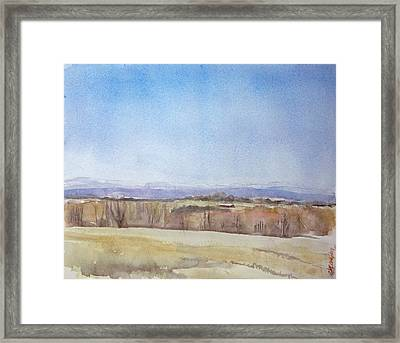 Framed Print featuring the painting Peeper Season by Grace Keown