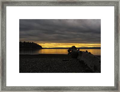 Peephole Sunset Framed Print
