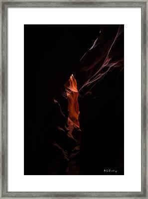 Peeping Through Framed Print by Bill Cantey
