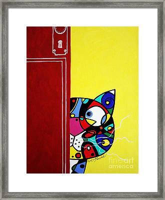 Peeping Tom Framed Print by Chris Mackie
