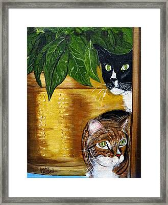 Peeping Tommy Framed Print