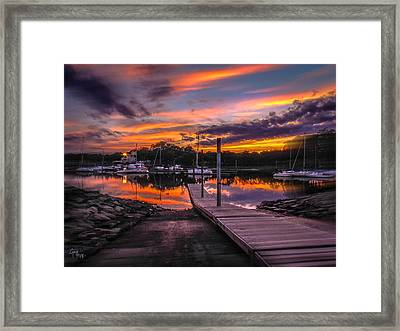 Peering At The Sunset Framed Print