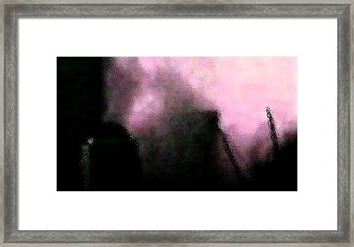 Peering Into Hell Framed Print