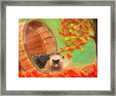 Peevish Porcupine Framed Print by Renee Michelle Wenker