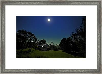 Framed Print featuring the photograph Pegasus And Moon by Greg Reed